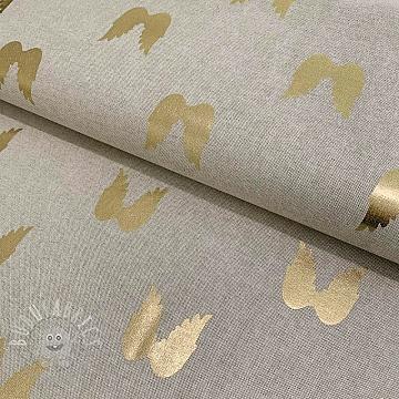 Decoration fabric Angel wings gold premium metallic