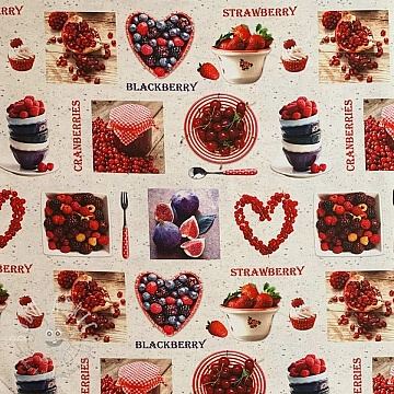 Decoration fabric Berry digital print