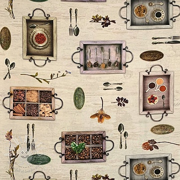 Decoration fabric Coffee time digital print