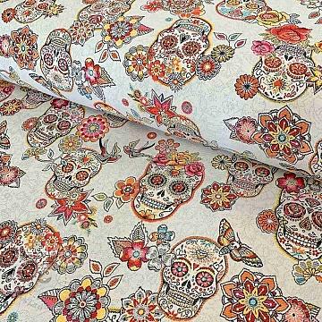 Decoration fabric jacquard CRISTOBAL blanc