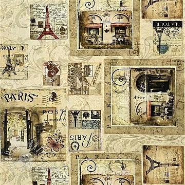 Decoration fabric Mail from Paris digital print