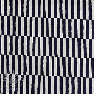 Decoration fabric Stripe blue