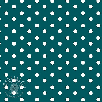 Cotton fabric Dots petrol