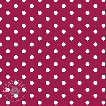 Cotton fabric Dots cerise