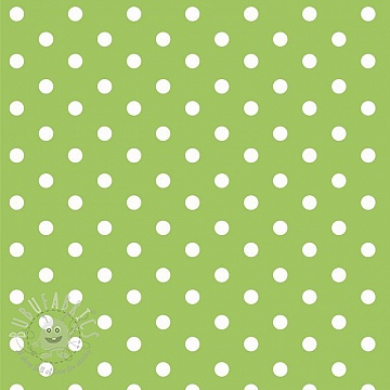 Cotton fabric Dots lime
