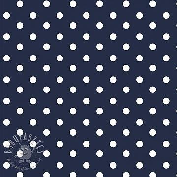 Cotton fabric Dots navy