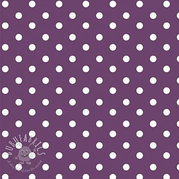 Cotton fabric Dots purple