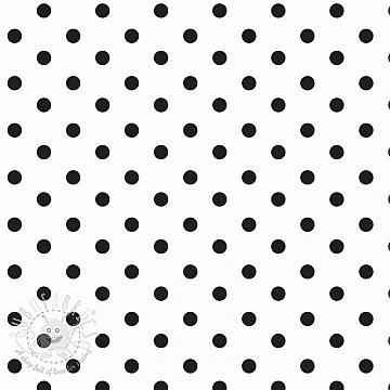 Cotton fabric Dots white/black