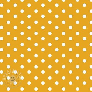 Cotton fabric Dots yellow