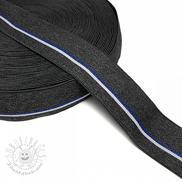 Elastic 4 cm BLUE STRIPE anthracite