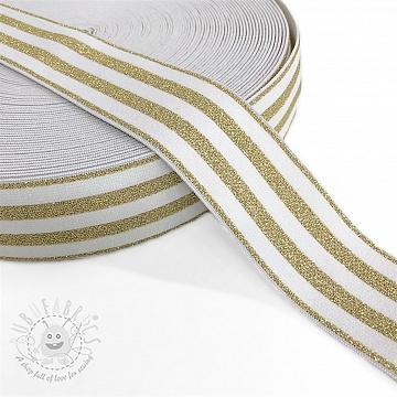 Elastic 4 cm LUREX GOLD off white