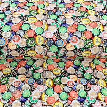 Jersey Bottle cap digital print