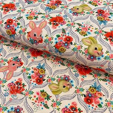 Jersey Happy bunnies powder digital print