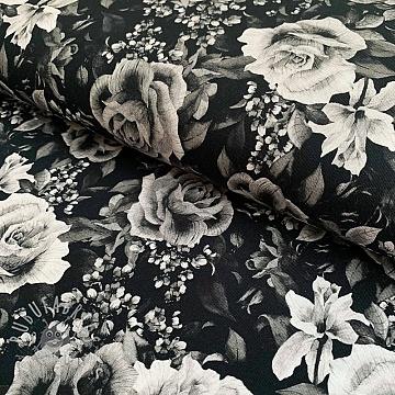 Jersey Mix Atlas colour roses digital print