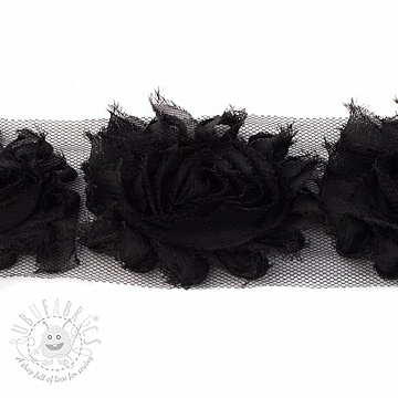 Lace tulle Rose black