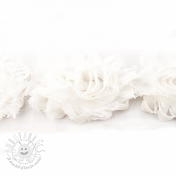 Lace tulle Rose white