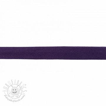 Bias binding jersey purple
