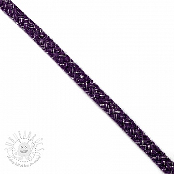Lurex cord 10 mm purple