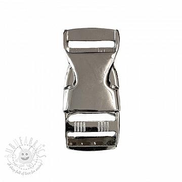 Metal Side Release Buckle 25 mm silver