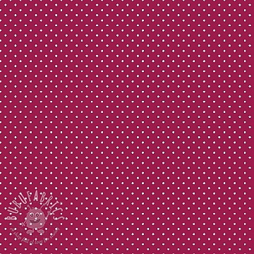 Cotton fabric Petit dots cerise
