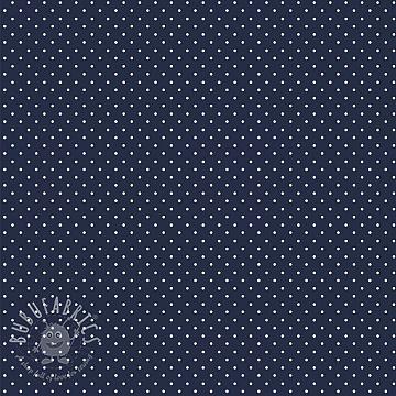 Cotton fabric Petit dots navy