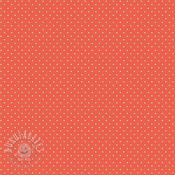 Cotton fabric Petit dots orange
