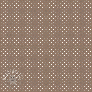 Cotton fabric Petit dots taupe