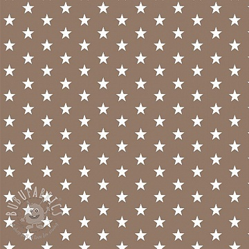 Cotton fabric Petit stars taupe
