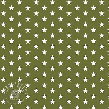 Cotton fabric Petit stars green