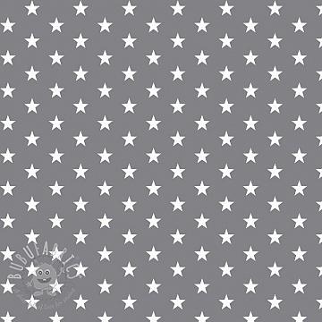 Cotton fabric Petit stars grey