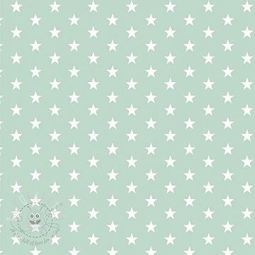 Cotton fabric Petit stars mint