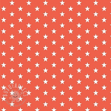 Cotton fabric Petit stars orange