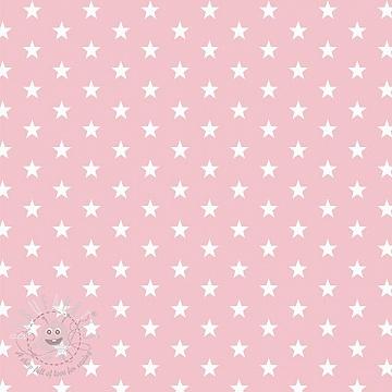 Cotton fabric Petit stars rose
