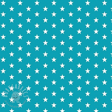 Cotton fabric Petit stars turqouise