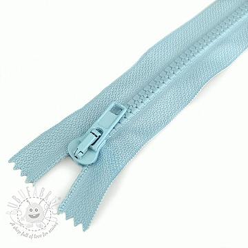 Plastic Jacket Zipper 20 cm light blue