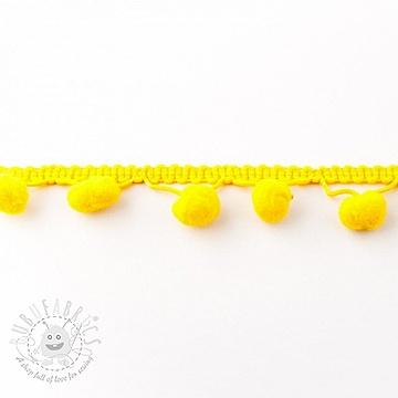 Pom pom SMALL yellow