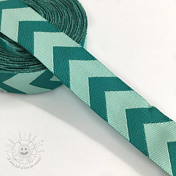 Ribbons Chevron mint