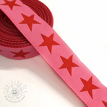 Ribbons Stars pink/red
