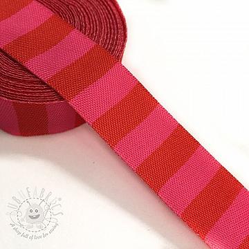Ribbons Stripe red