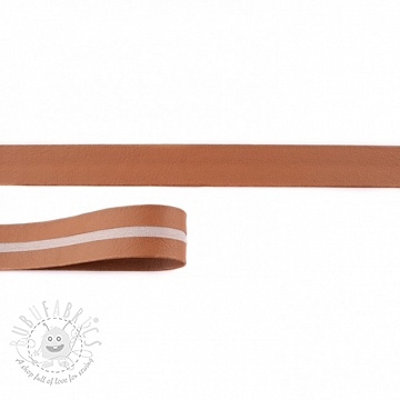 Bias binding imitation leather cognac
