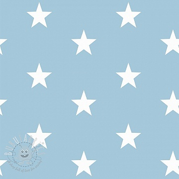 Cotton fabric Stars light blue