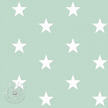 Cotton fabric Stars mint