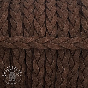 Suede cord twisted choco