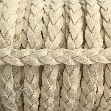 Suede cord twisted off white