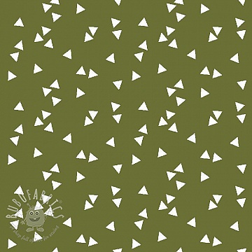 Cotton fabric Triangle green