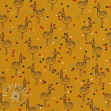 Cotton fabric WE LIKE TO PARTY! Party pelican yellow