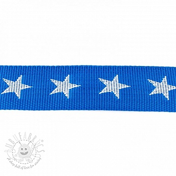 Webbing 4 cm Star blue