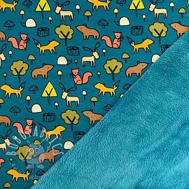 Alpenfleece Animals petrol