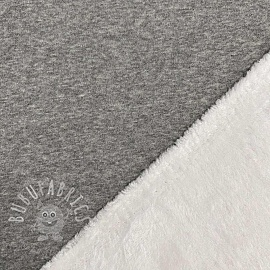 Alpenfleece soft light grey melange