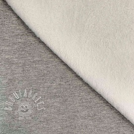 Alpenfleece UNI melange light grey